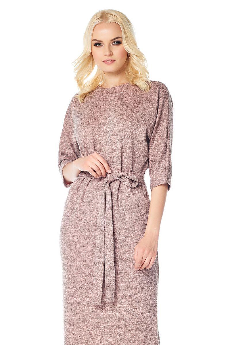 Розовое платье  LalaStyle W01068