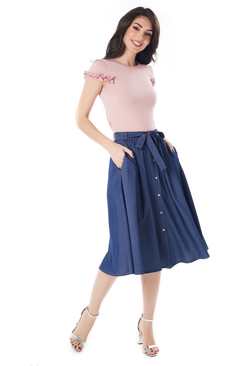 Темно синяя юбка LalaStyle 1391