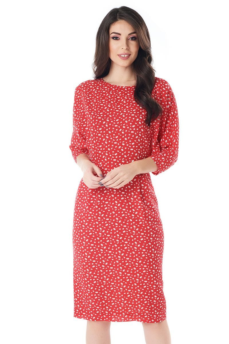 Платье с рукавом летучая мышь LalaStyle 1405-266