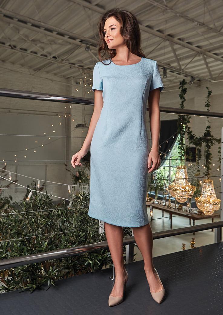 Нежное голубое платье на вечер Top Design PA8 21