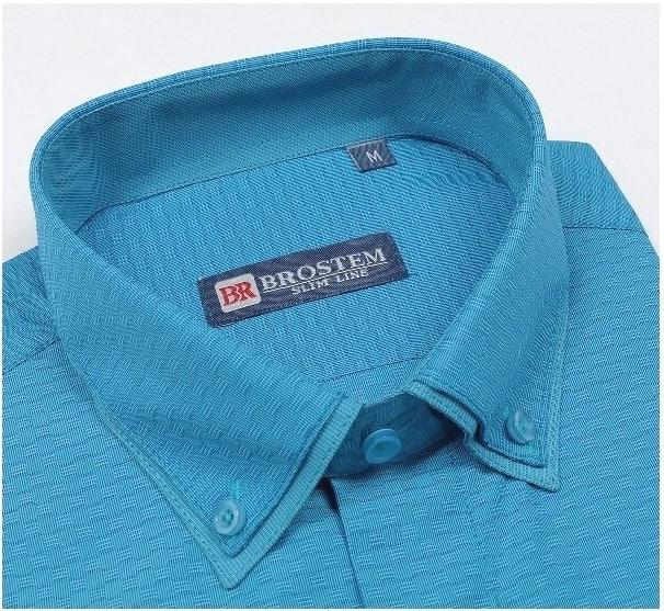 Модная рубашка с двойным воротником Brostem 6053-2