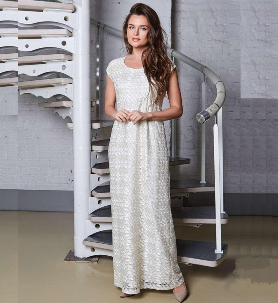 Ажурное платье длиною в пол Top Design A8 038