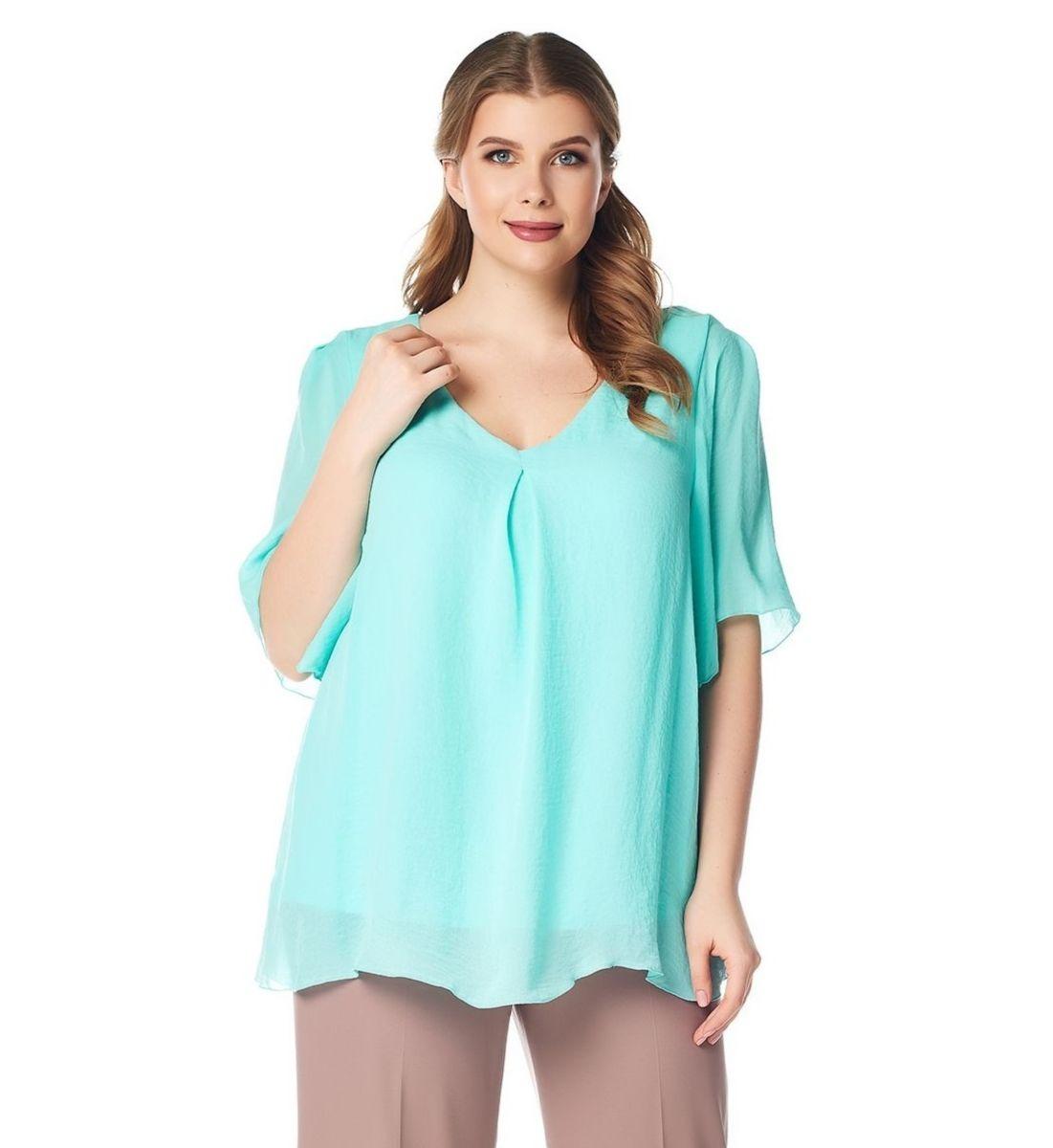 Эффектная блузка большого размера LalaStyle 1412
