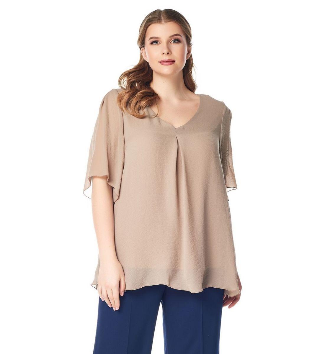 Модная женская блузка большого размера LalaStyle 1412