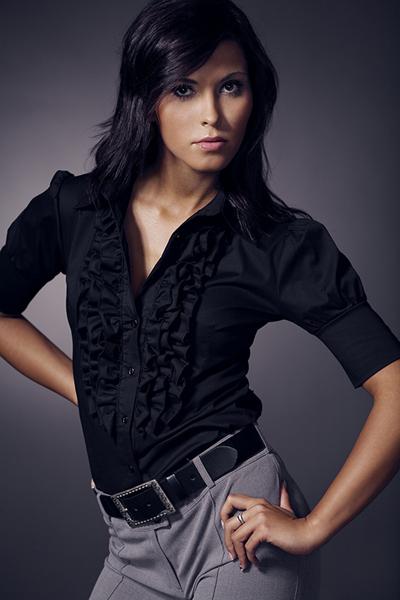 Черная рубашка с коротким рукавом NIife K02
