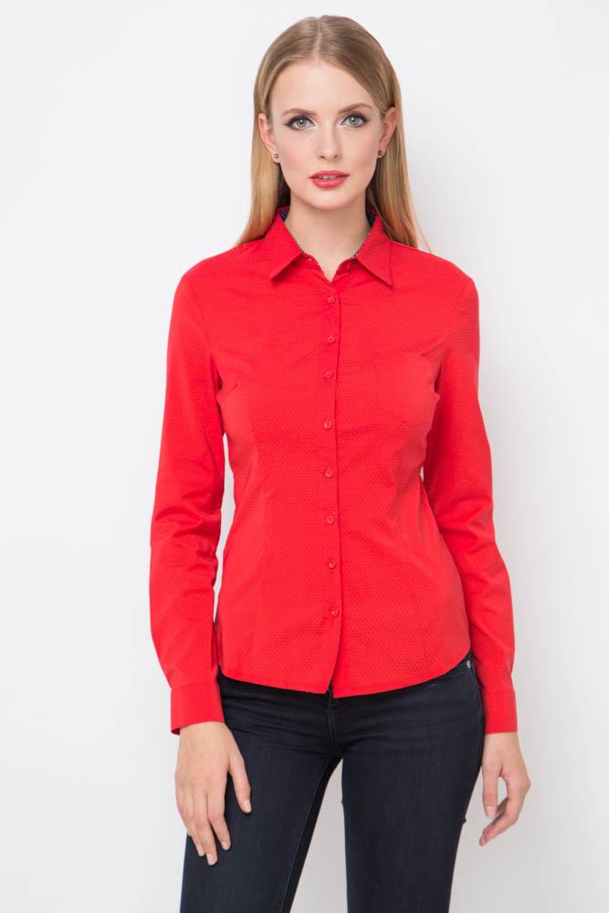 Красная женская рубашка Marimay 1679