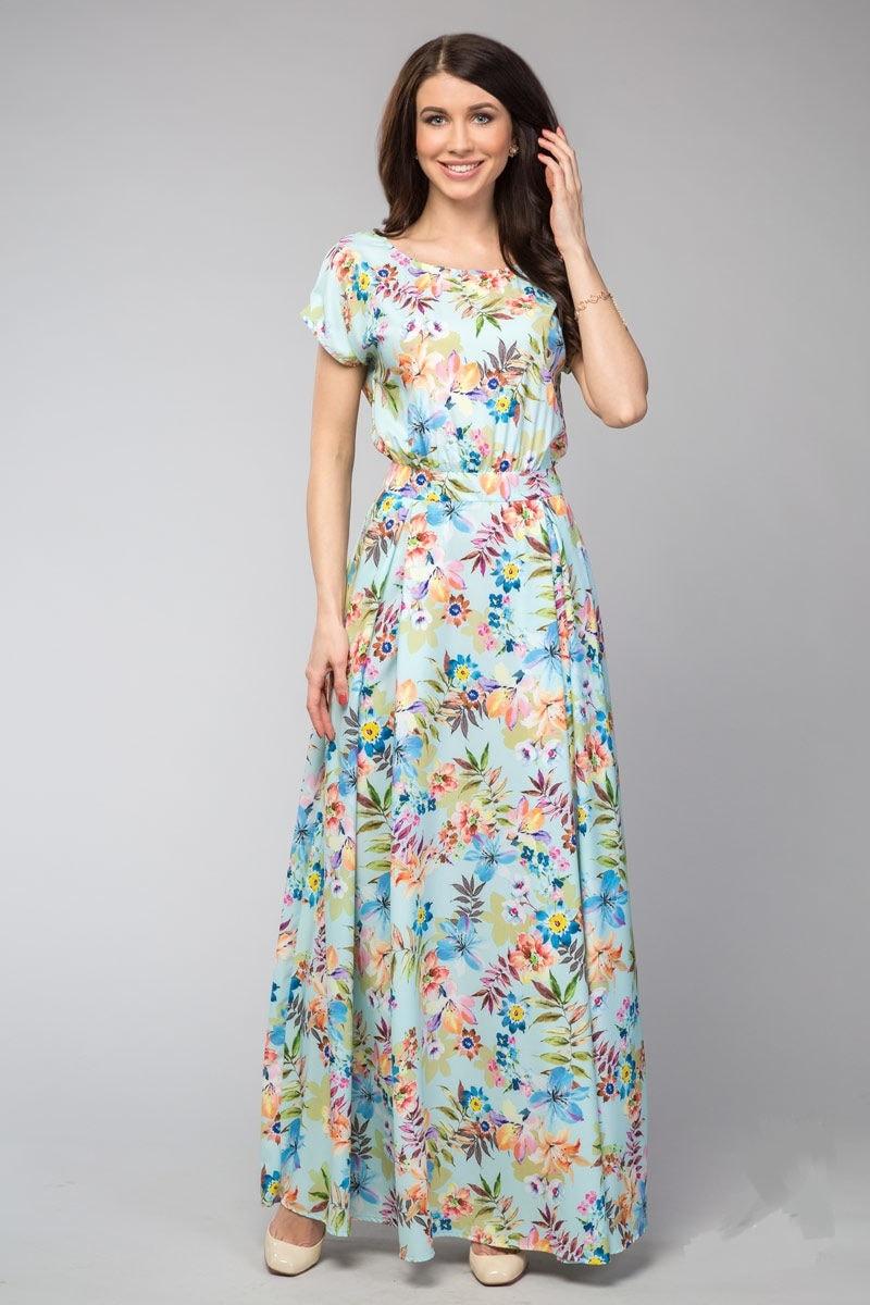 Длинное летние платье LalaStyle 1083-02