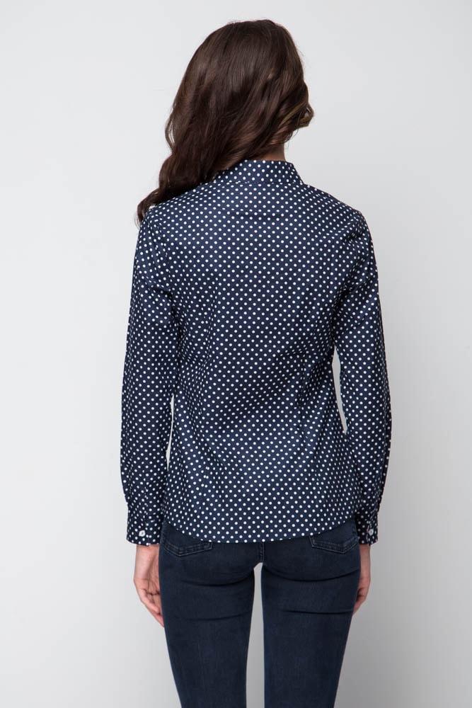 Модная женская рубашка в горошек Marimay 16118