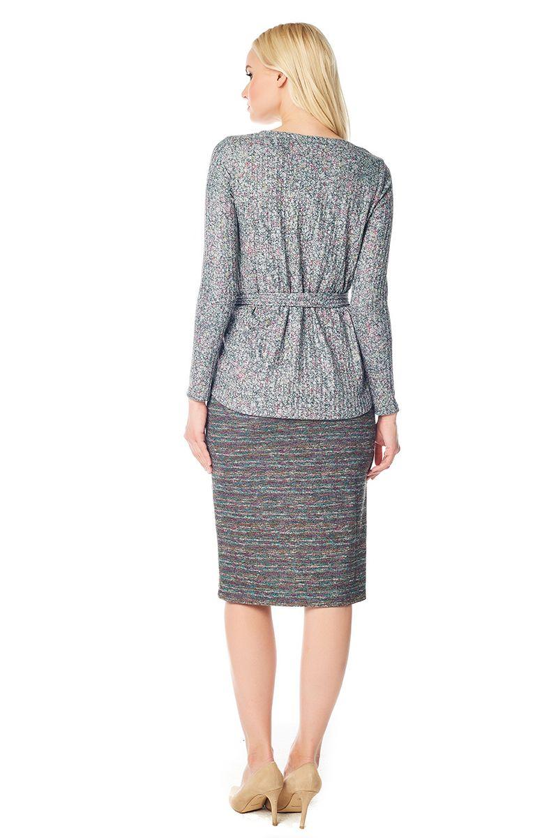 Стильная блузка с поясом Lala Style W02007-285