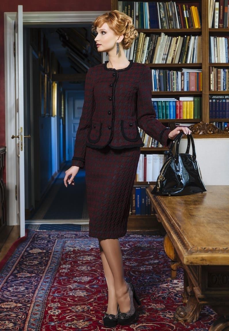 Женский костюм с юбкой  TopDesign РВ4 12-13