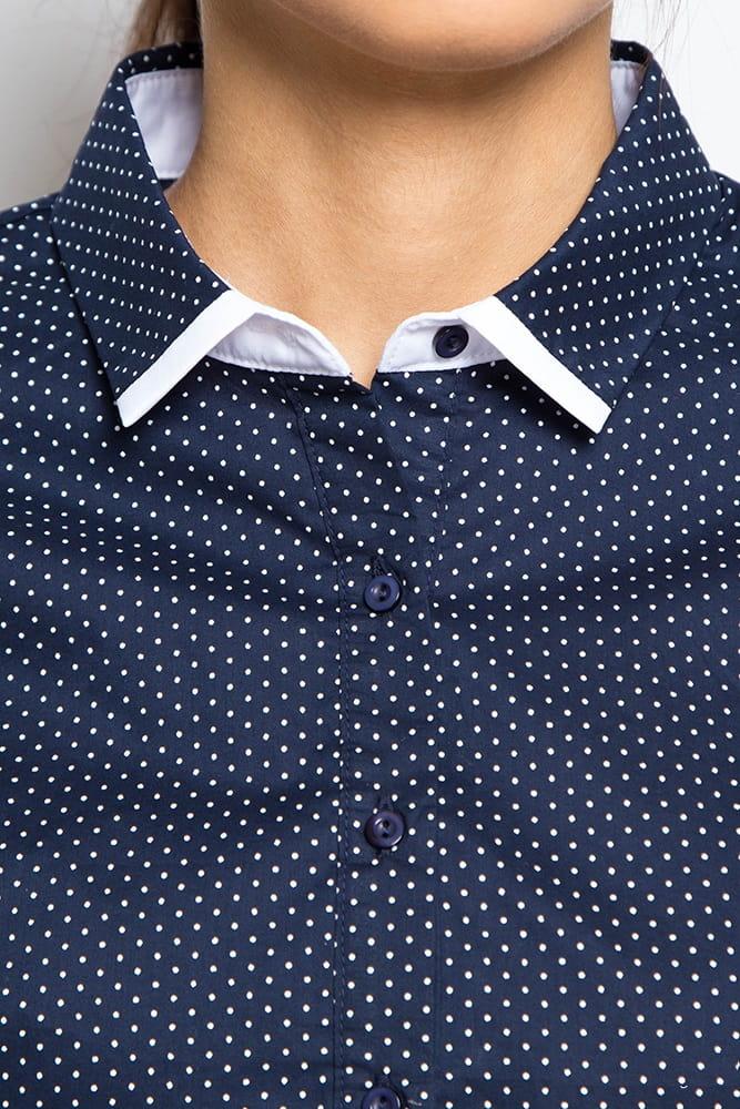 Блузка  в горошек с  длинным рукавом Marimay 15115