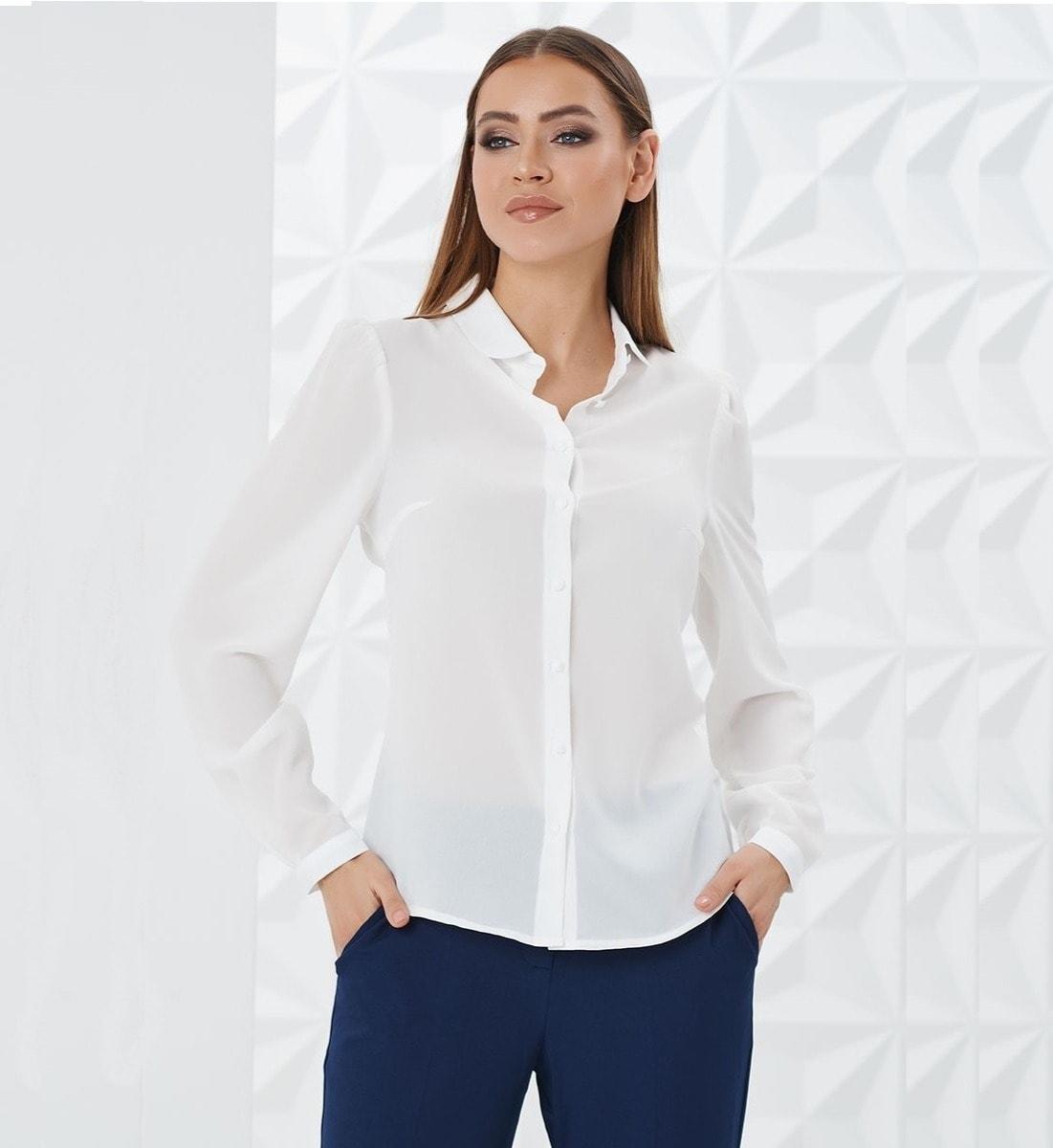 Молочная женская блузка LalaStyle W02002