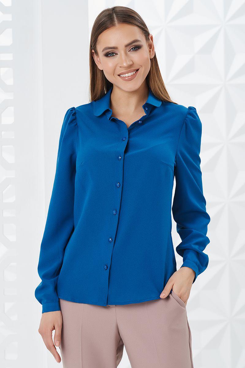 Блузка женская цвета морской волны LalaStyle W02002