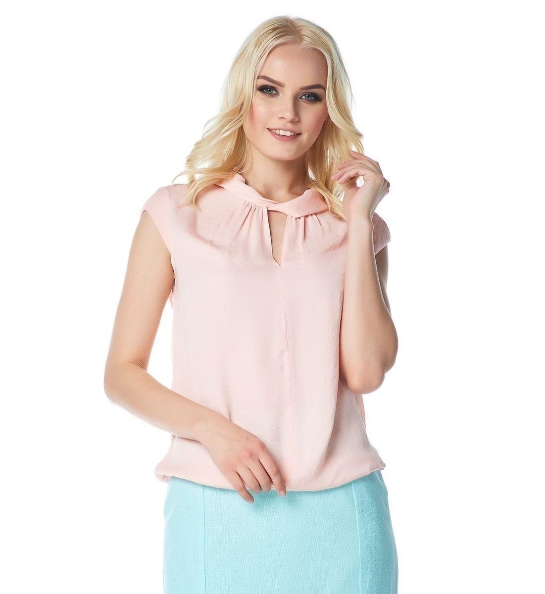 Персиковая женская блузка LalaStyle 1376