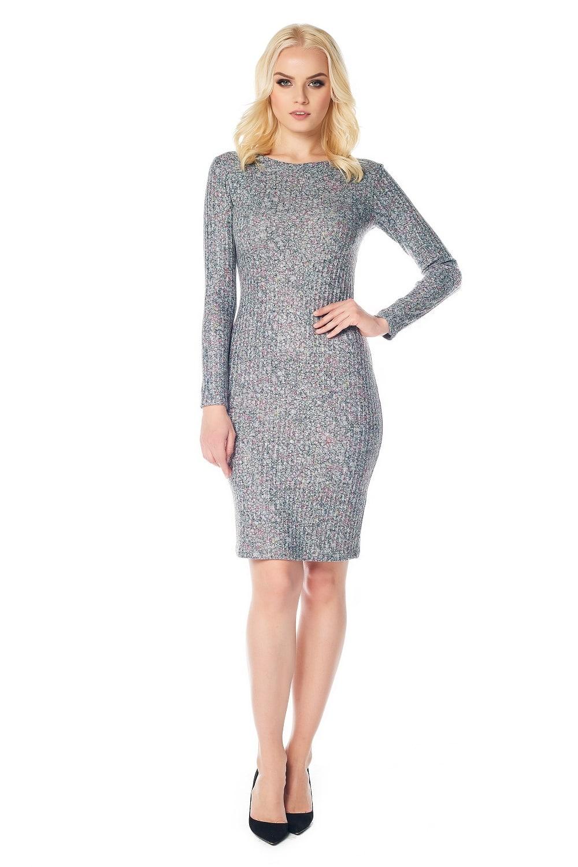 Женственное платье с длинным рукавом LalaStyle W01006-286