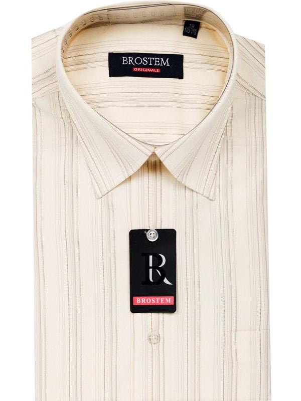 Модная светлая рубашка в полоску Brostem 40597