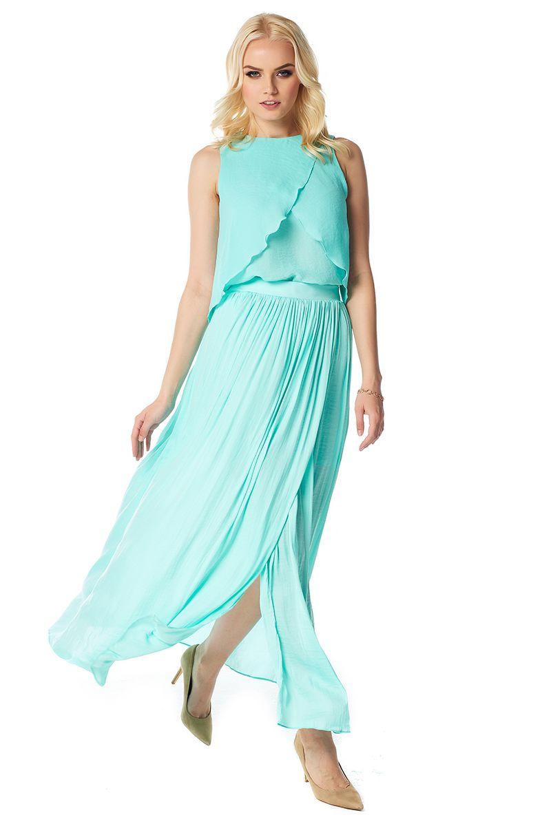 Шелковая юбка с запахом LalaStyle 1455