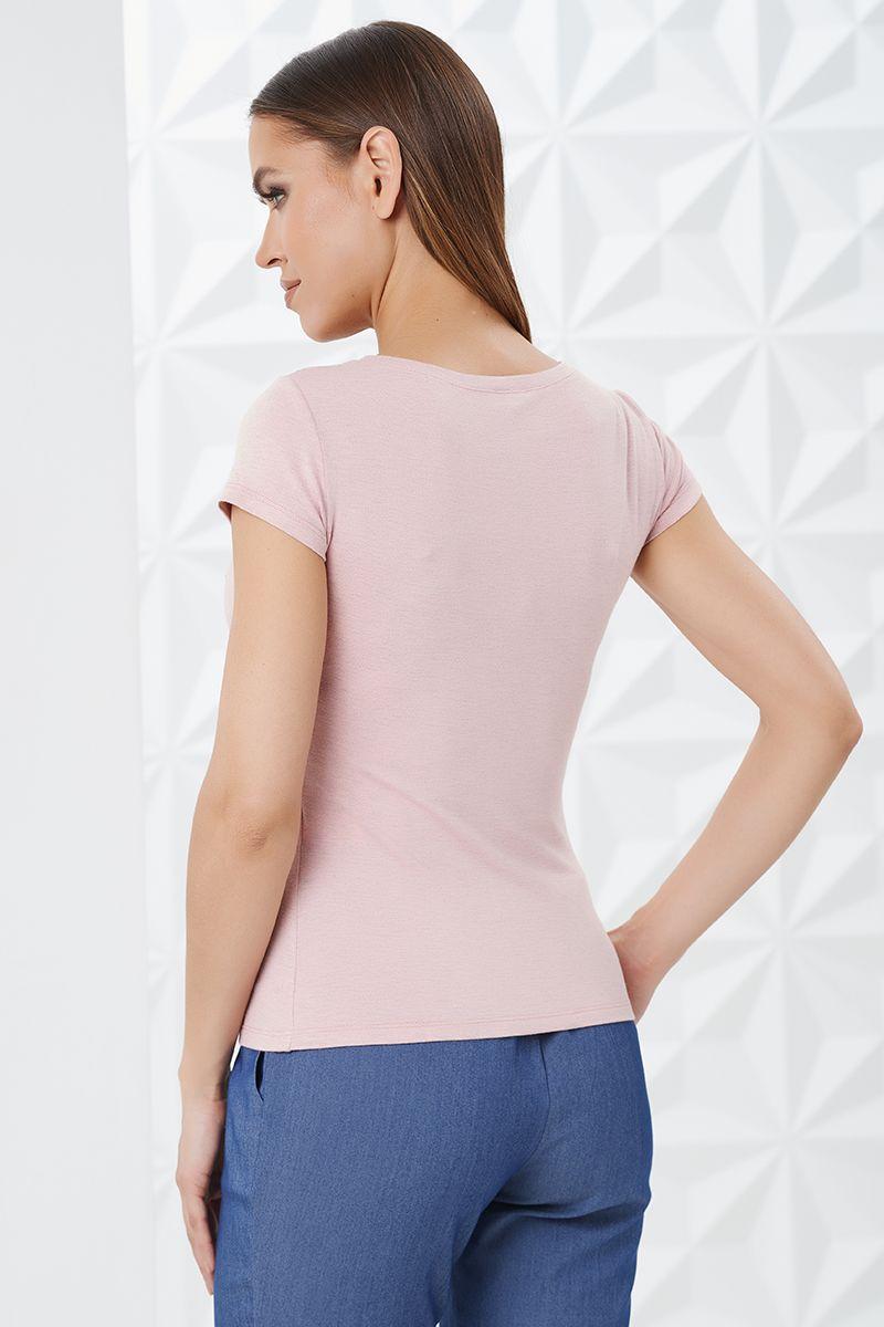Розовая блузка женская на лето LalaStyle 1465