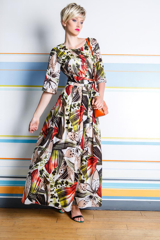 Элегантное женское платье с рукавом три четверти Flaibach 015S6