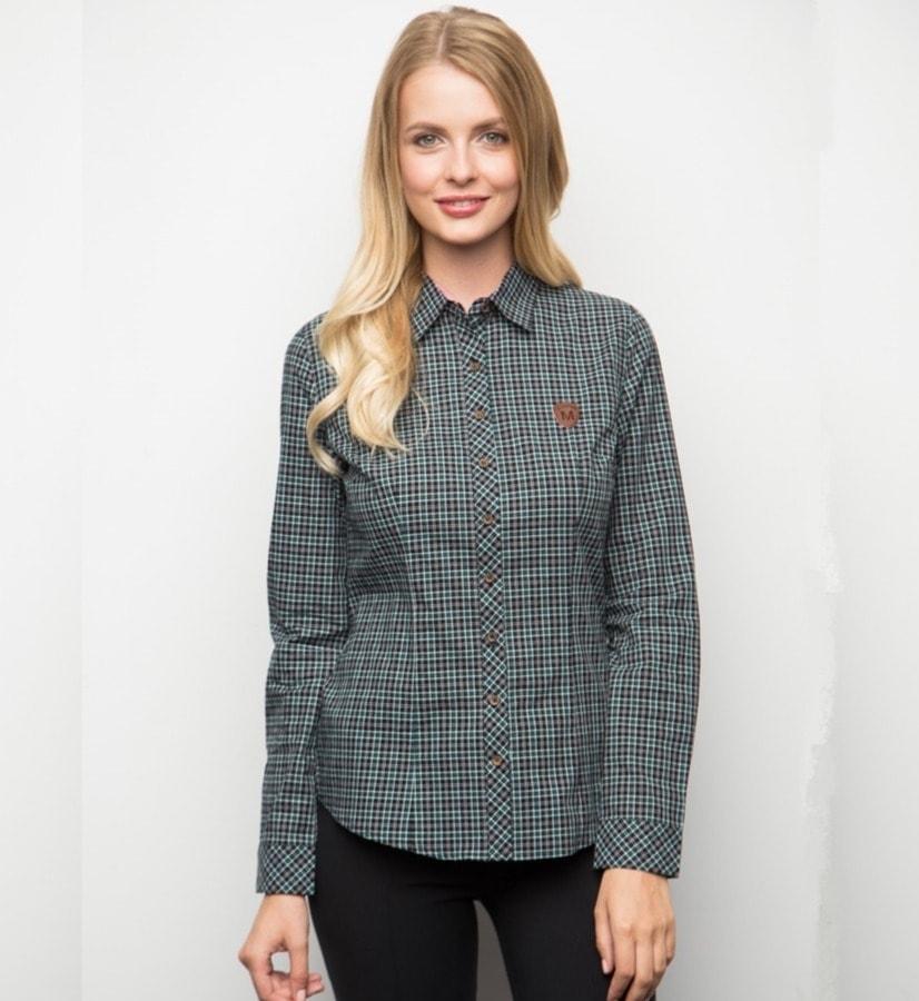 Хлопковая в клетку женская рубашка Marimay 15171