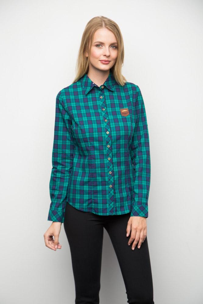 Рубашка в сине-зеленую клетку Marimay 15172