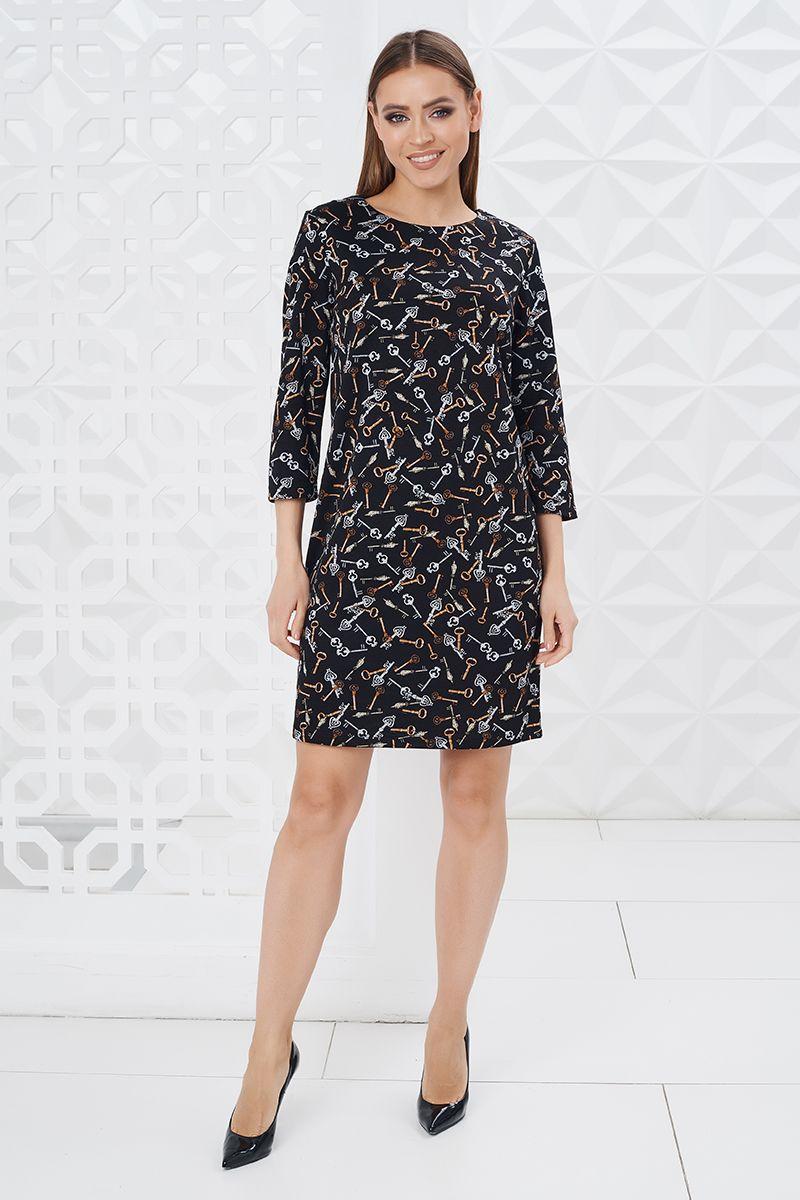 Недорогое платье с ключами Lala Style W01084-56