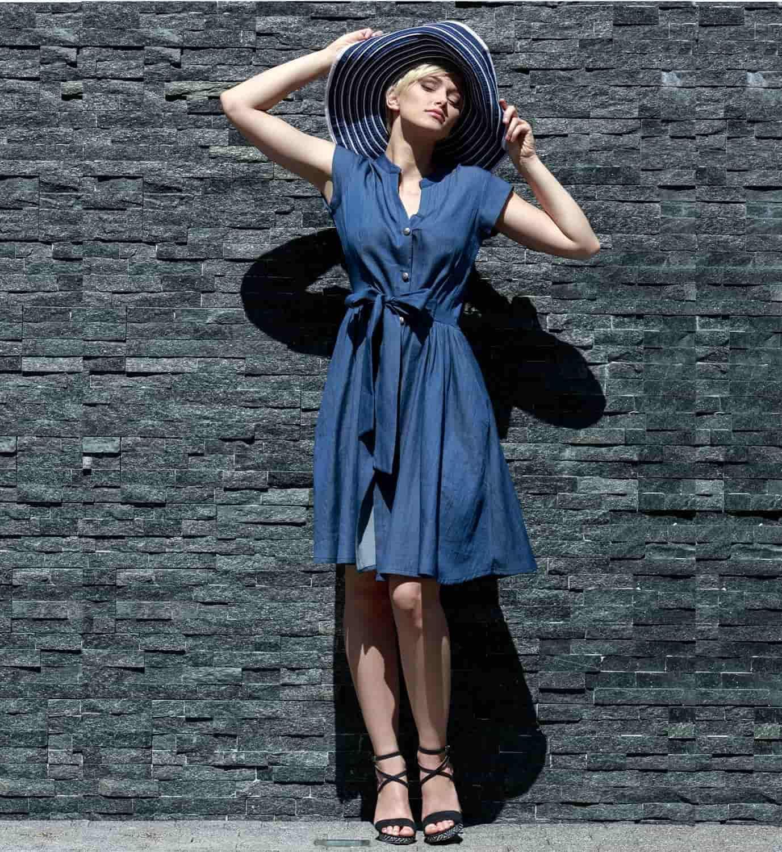 Модное хлопковое платье Flaibach 027S7