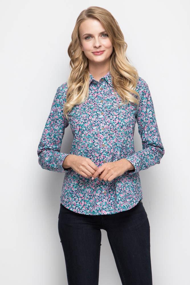 Женская рубашка с цветочным принтом Marimay 16103