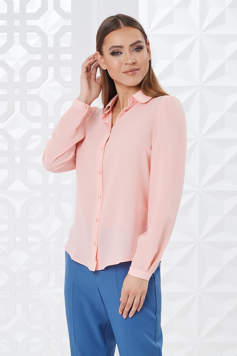 Женская блузка с длинным рукавом LalaStyle W02002