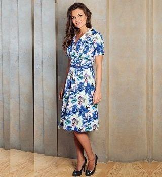 Офисное летние платье TopDesign А7 099