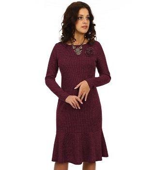 Вишневое женское платье Serenada 2396