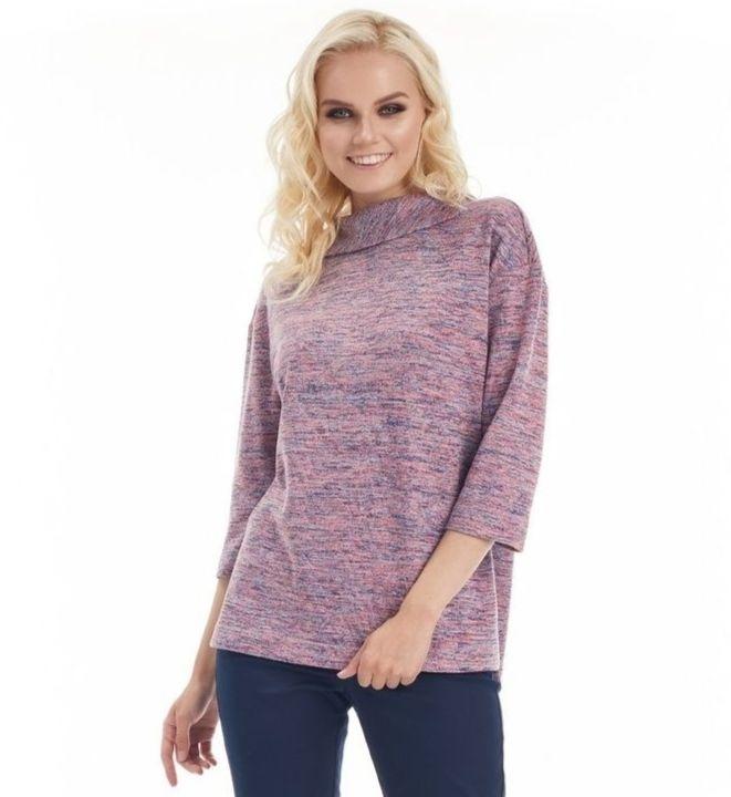 Блузка свободного кроя LalaStyle W02032
