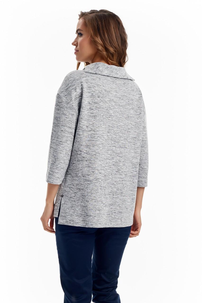 Свободная серая блузка LalaStyle W02032
