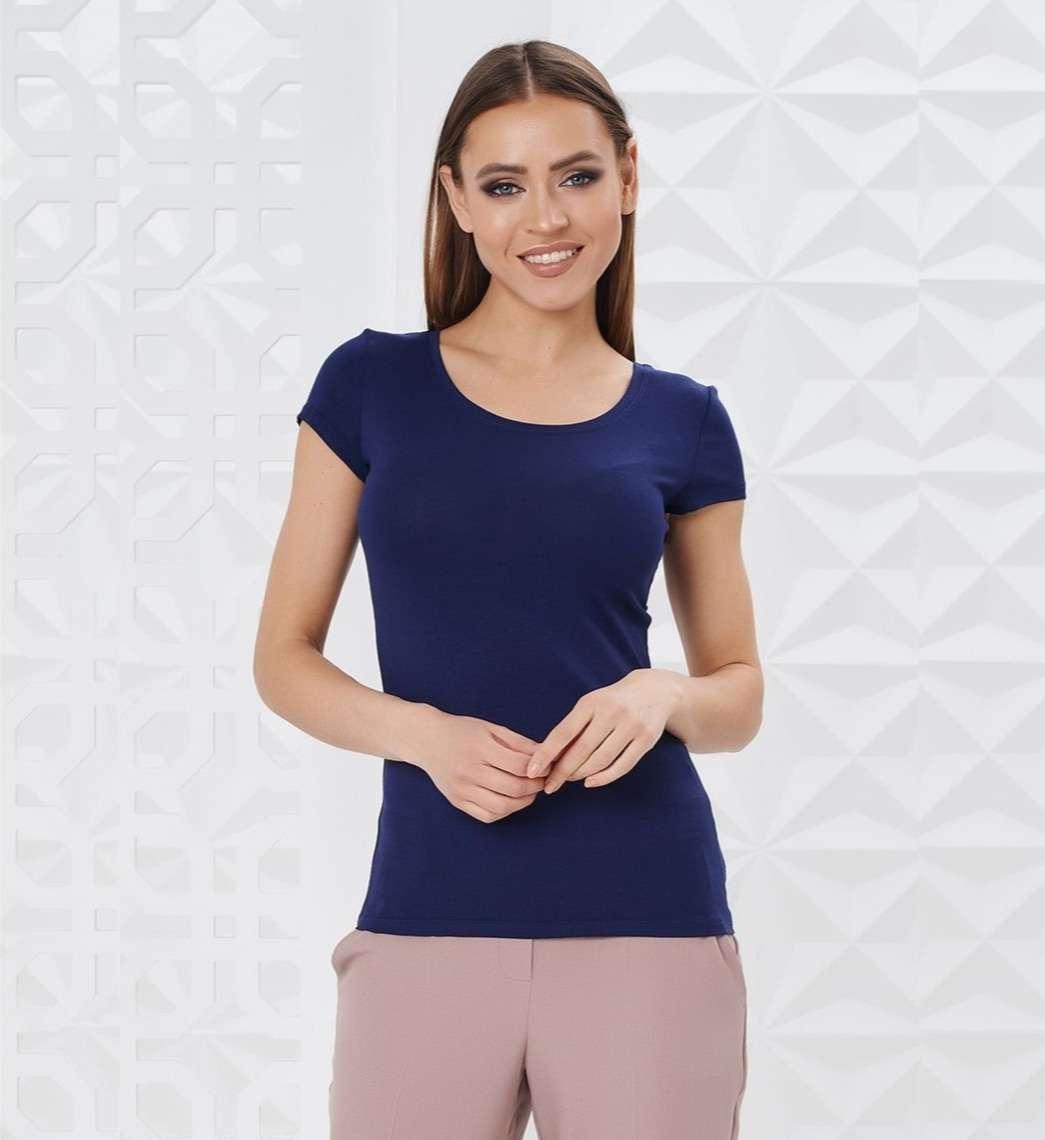 Синяя женская футболка LalaStyle 7