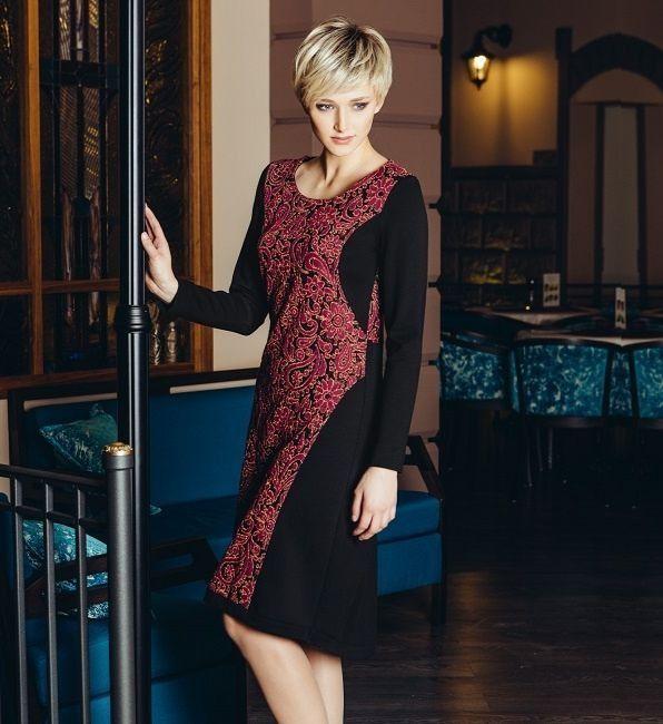 Элегантное платье с длинными рукавами Flaibach 073W6