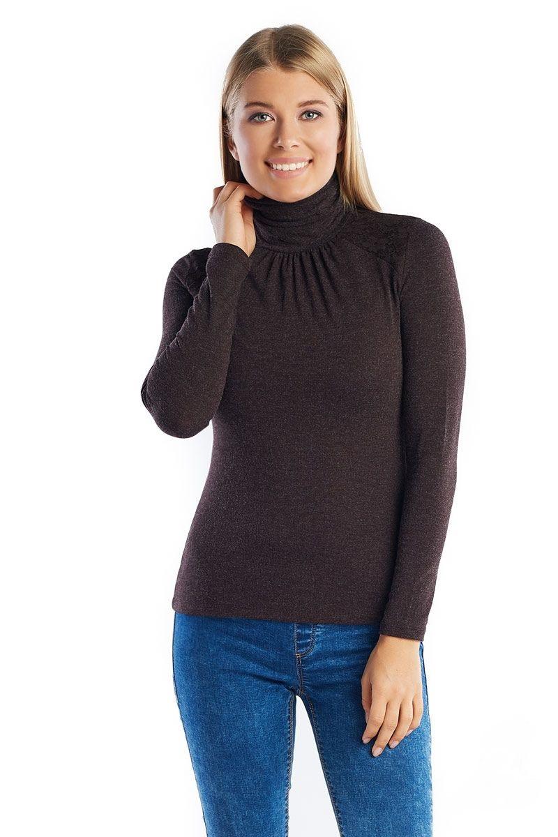 Водолазка женская коричневая LalaStyle 882