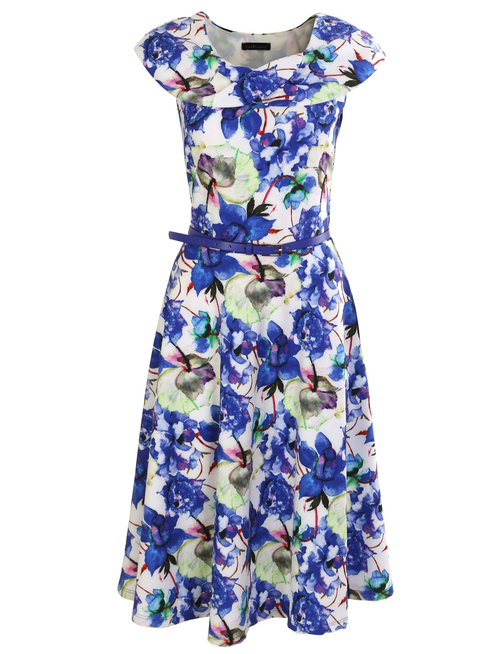 Платье с поясом TopDesign А7 098