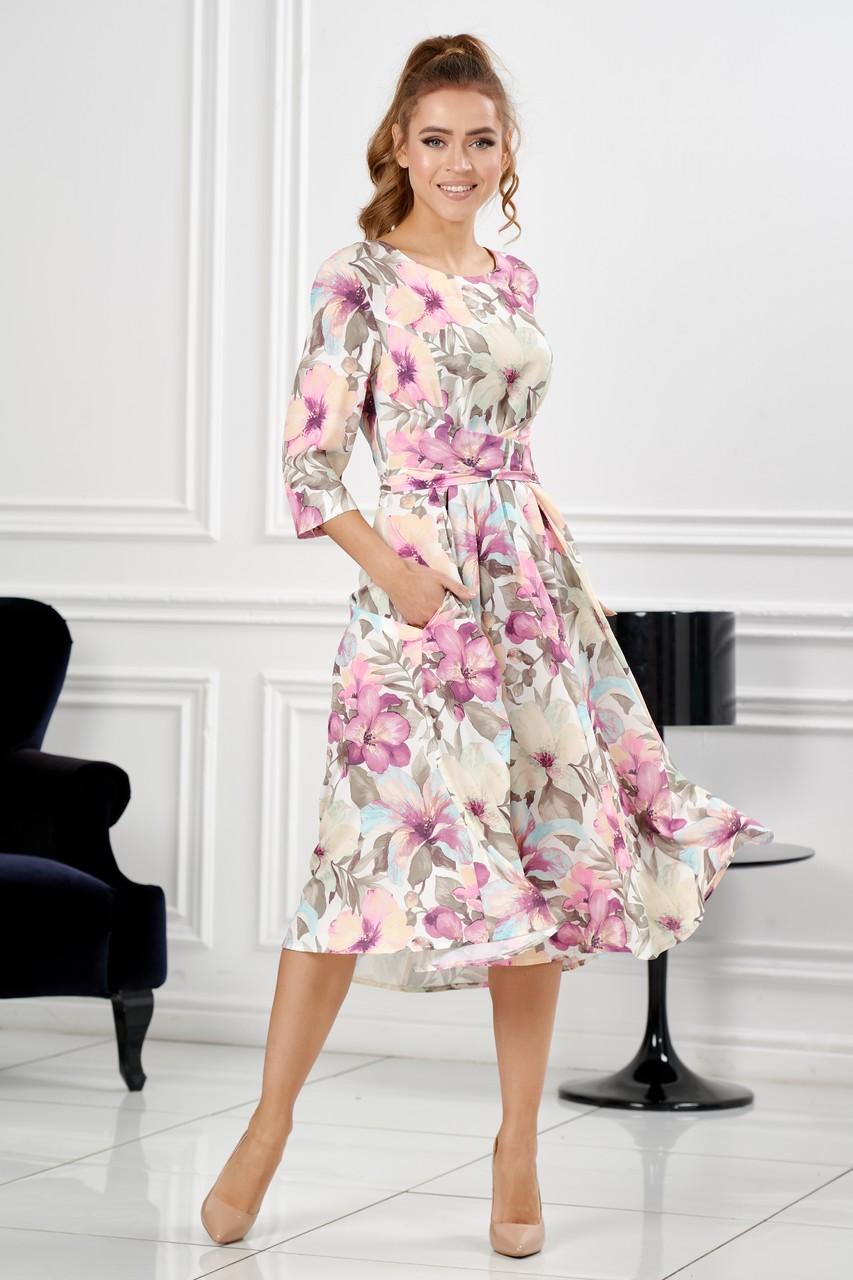 Изумительное платье на весну лето LalaStyle S01035-314