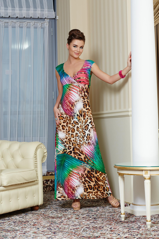 Яркое длинное платье TopDesign РА4 21