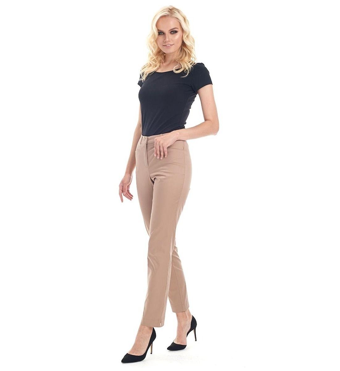 Классические брюки женские модного цвета капучино LalaStyle 1461