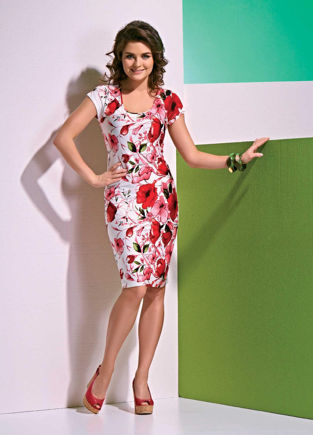 Красивое платье с цветами Top Design A4 030